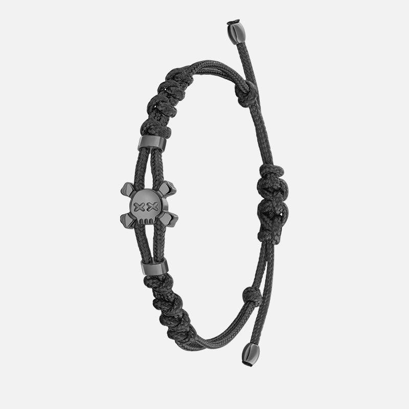 Стильный браслет на черной нити в золоте Hotchkis Jewelry